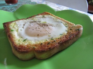 Egg in/on Toast - Grilled